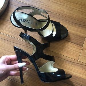 Versace for H&M patent leather high heels